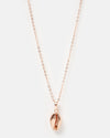 Miz Casa & Co Cowrie Kiss Necklace Rose Gold