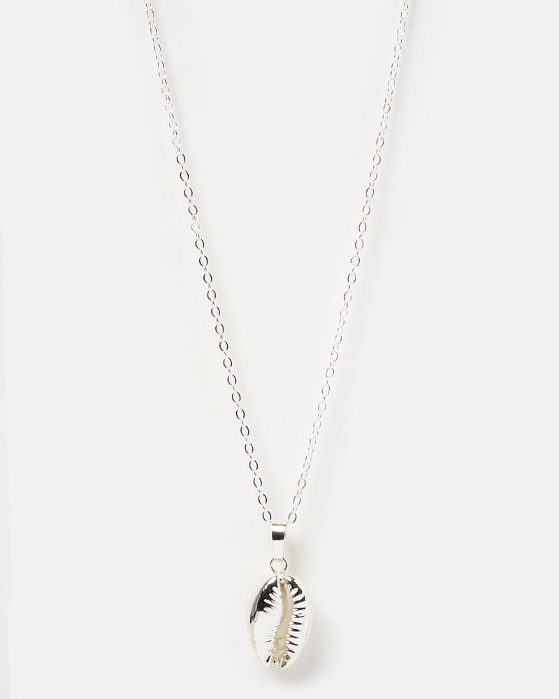 Miz Casa & Co Cowrie Kiss Necklace Silver