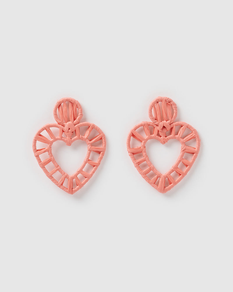 Izoa Craft Earrings Coral