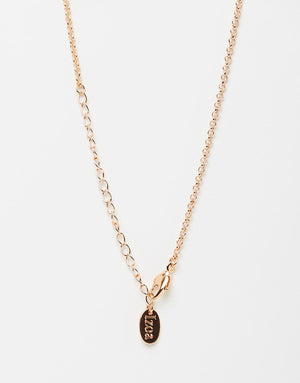 Izoa Crystal Ball Necklace Rose Gold
