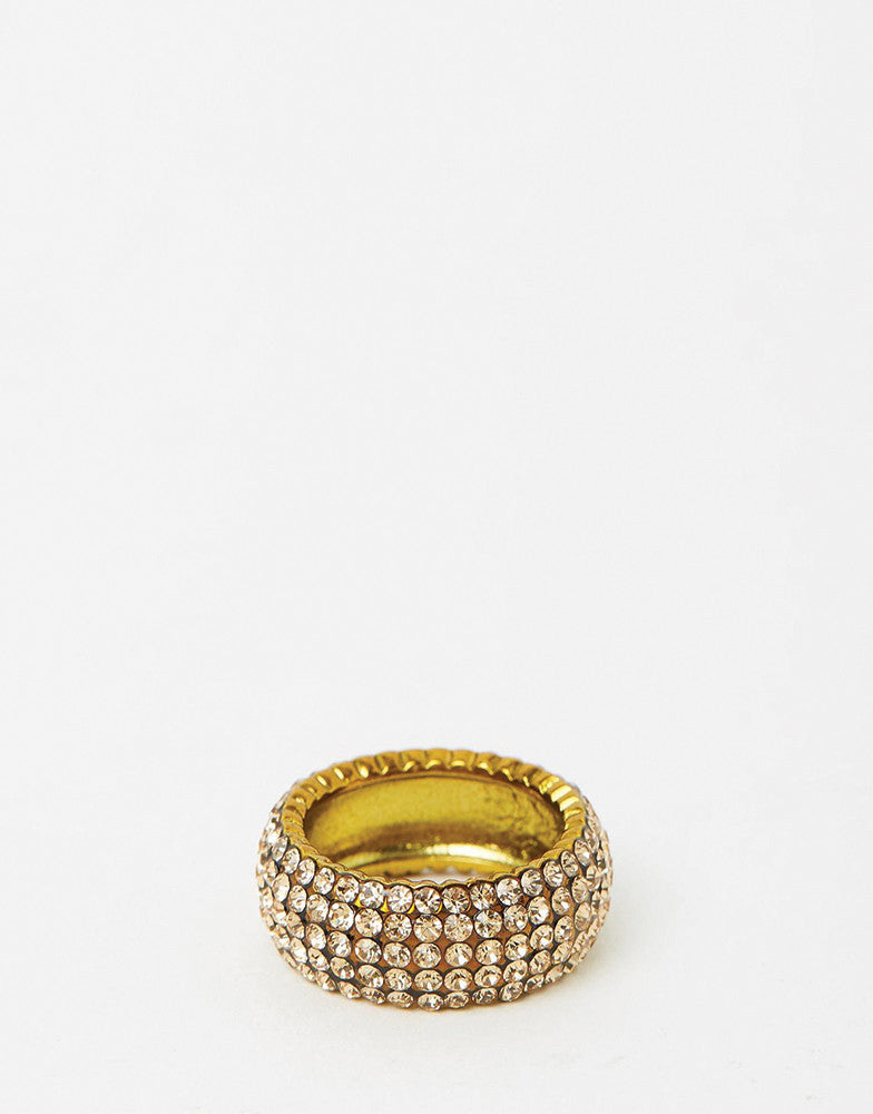 Izoa Crystal Ring Gold