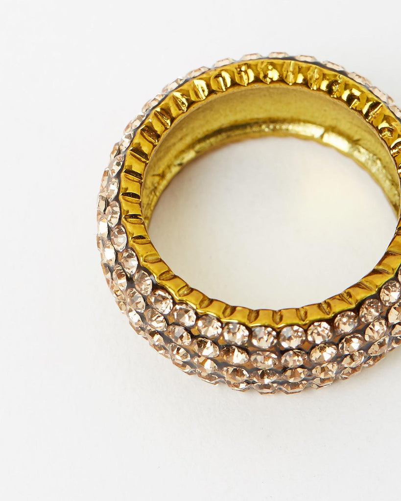 Izoa Gold Crystal Ring