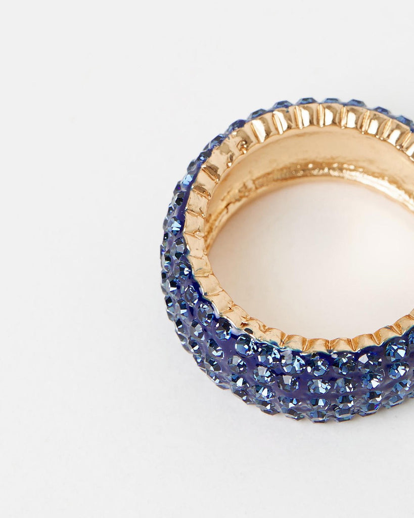 Izoa Crystal Ring Navy