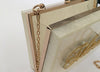 Izoa Personalised Clutch Pearl Gold