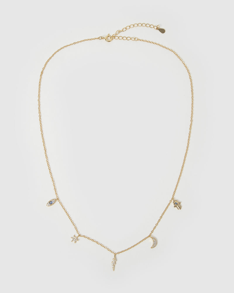 Izoa Chance Choker Necklace Gold