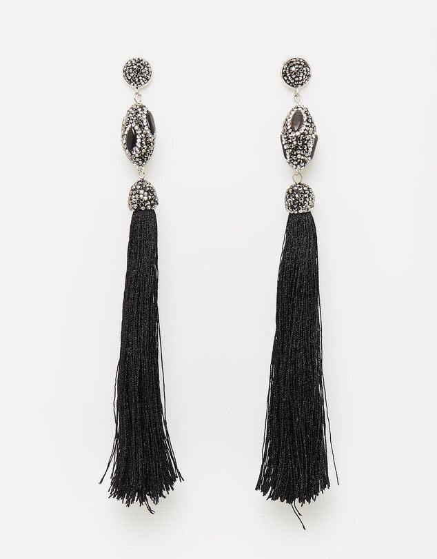 Izoa Damask Earring Black
