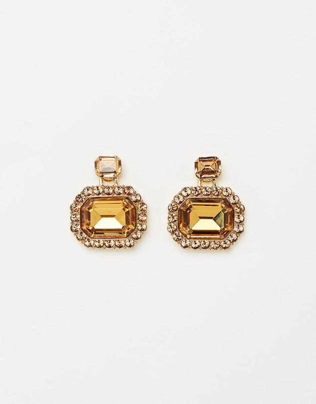 Izoa Dazzle Earrings Gold