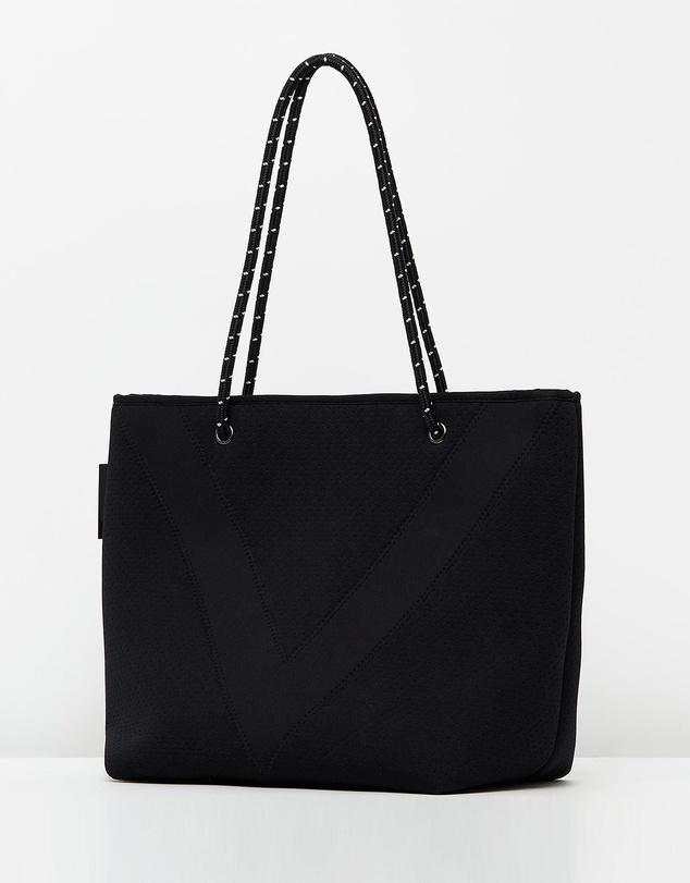 Miz Casa & Co Deja Neoprene Tote Bag Black