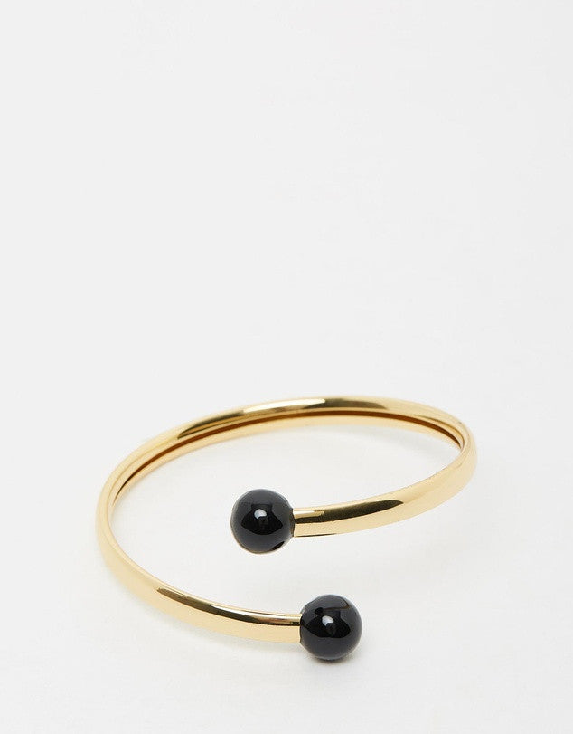 Izoa Gold Black Destiny Bangle