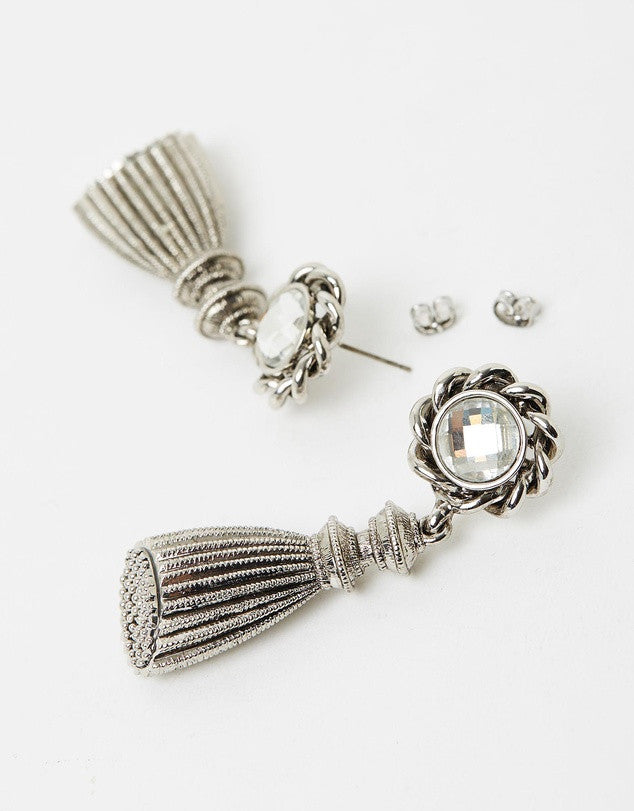 Izoa Door Knocker Earrings Silver
