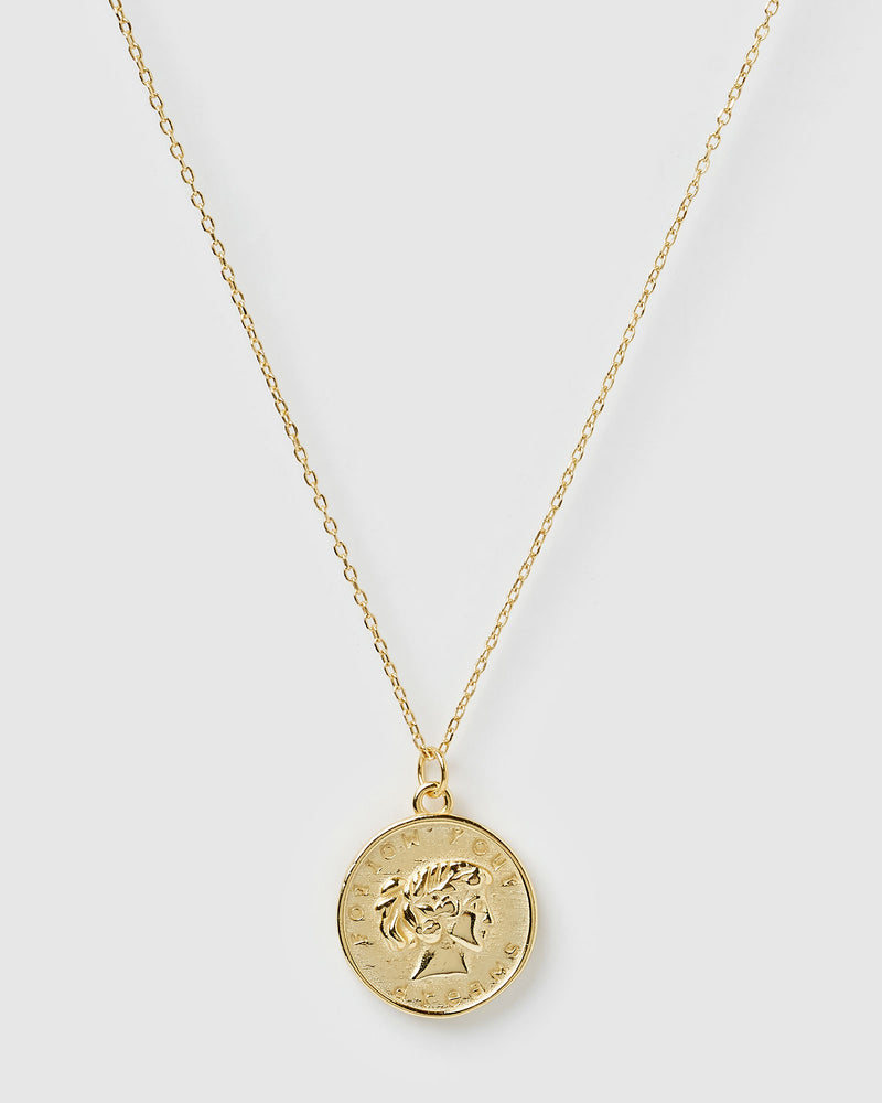 Izoa Dreams Pendant Necklace Gold