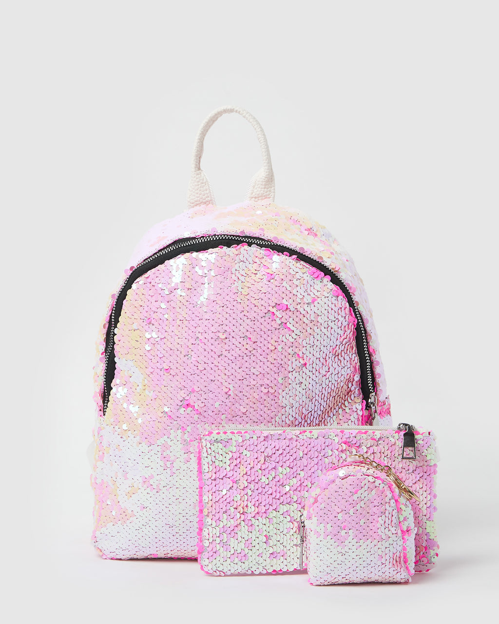 Izoa Kids Disco Backpack Pink White