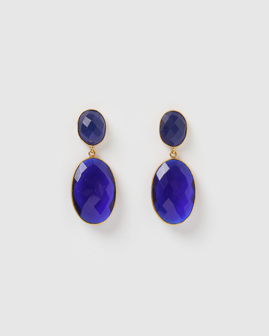Izoa Divinity Earrings Blue Lapis