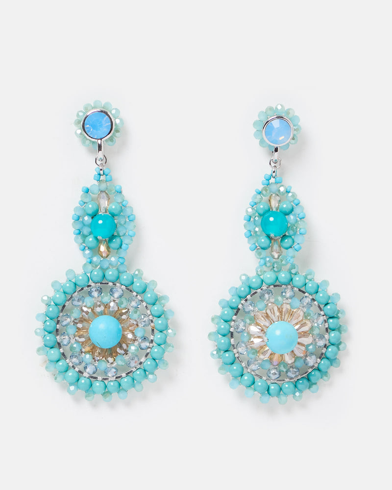 Izoa Eccentric Earrings Blue