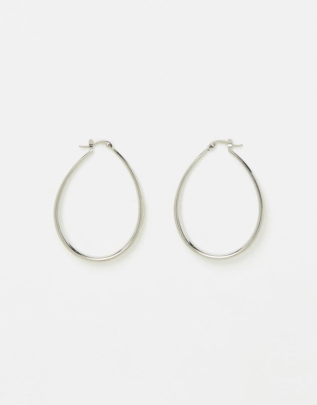 Izoa Eclipse Earrings Silver