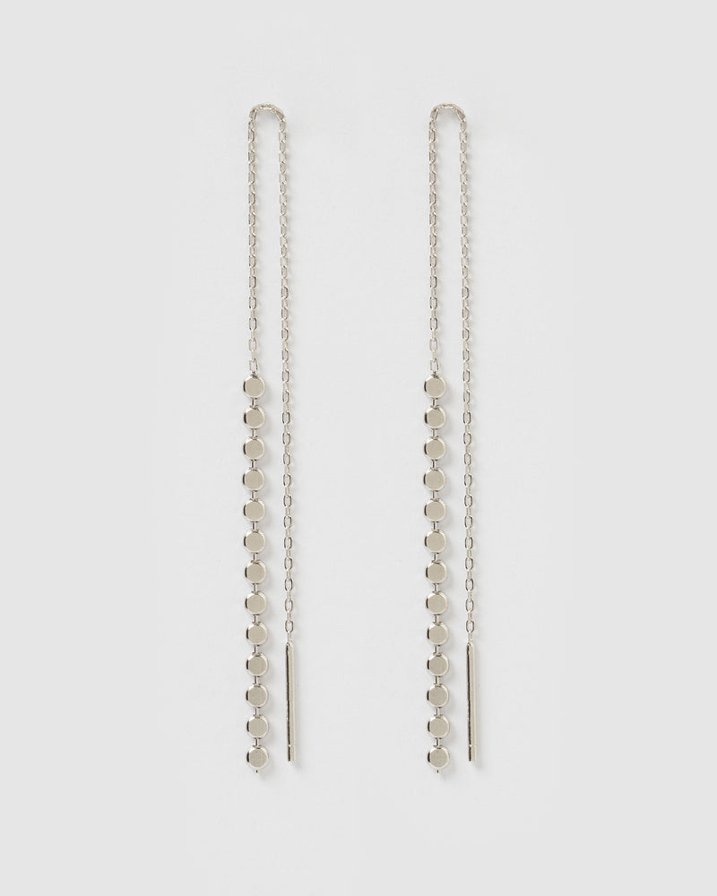 Izoa Elixa thread Earrings Silver