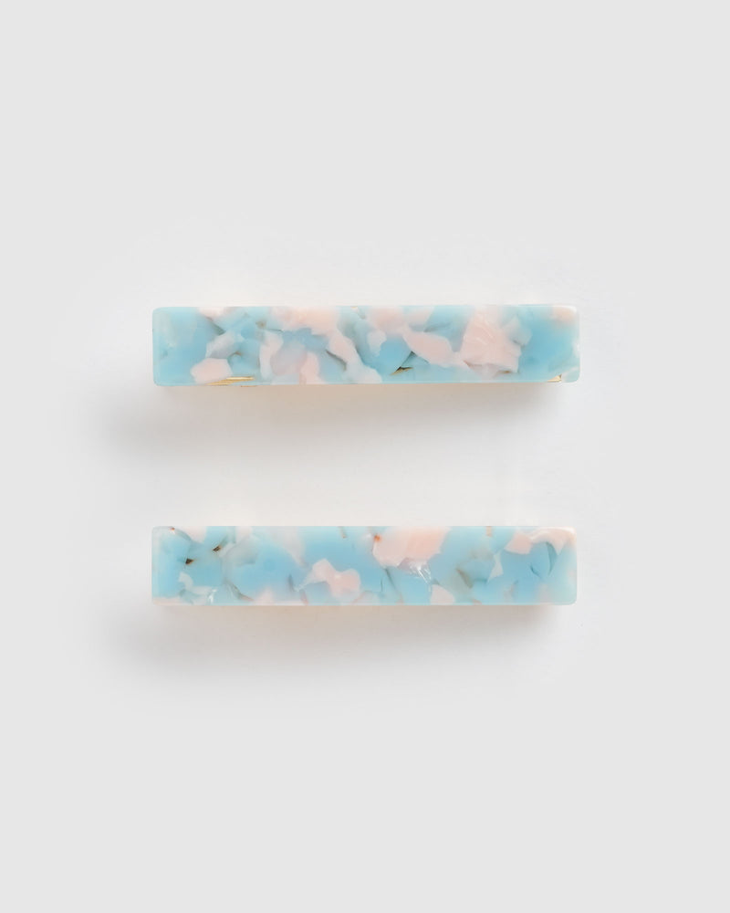 Izoa Eliza Hair Clip Set Cotton Candy