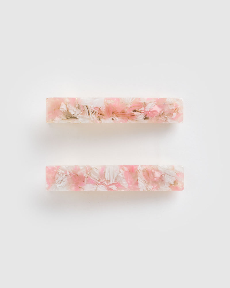 Izoa Eliza Hair Clip Set Pink Cloud