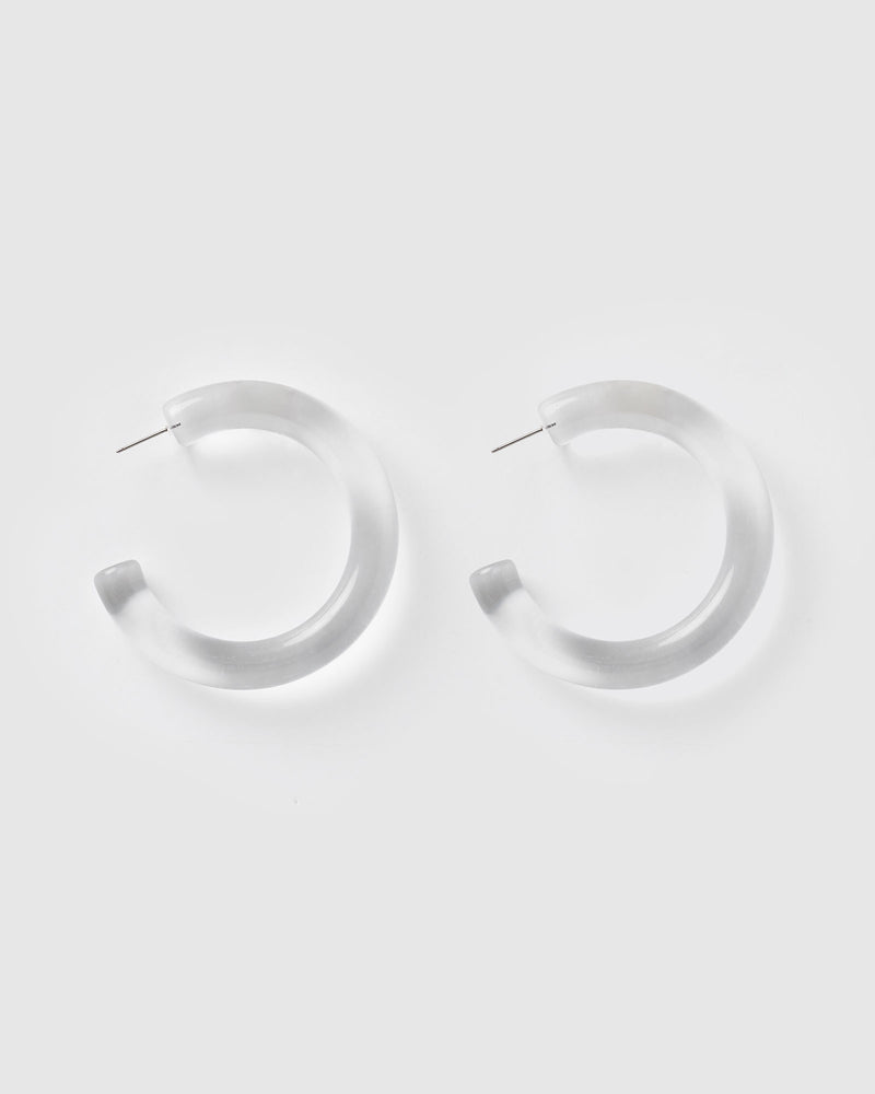 Izoa Elsie Hoop Earrings Clear