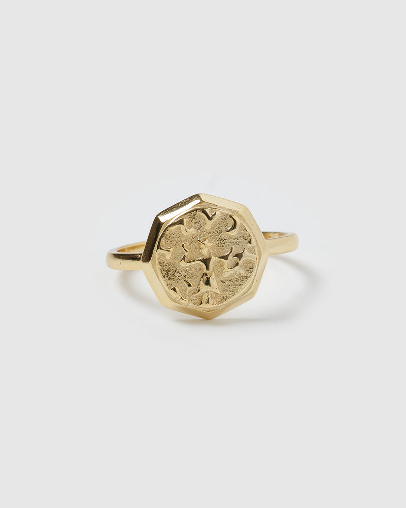 Izoa Emblem Ring Gold