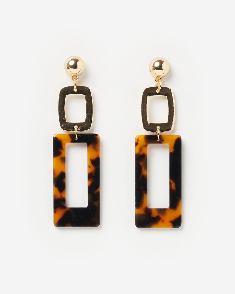Izoa Expectations Earrings Tortoise Shell