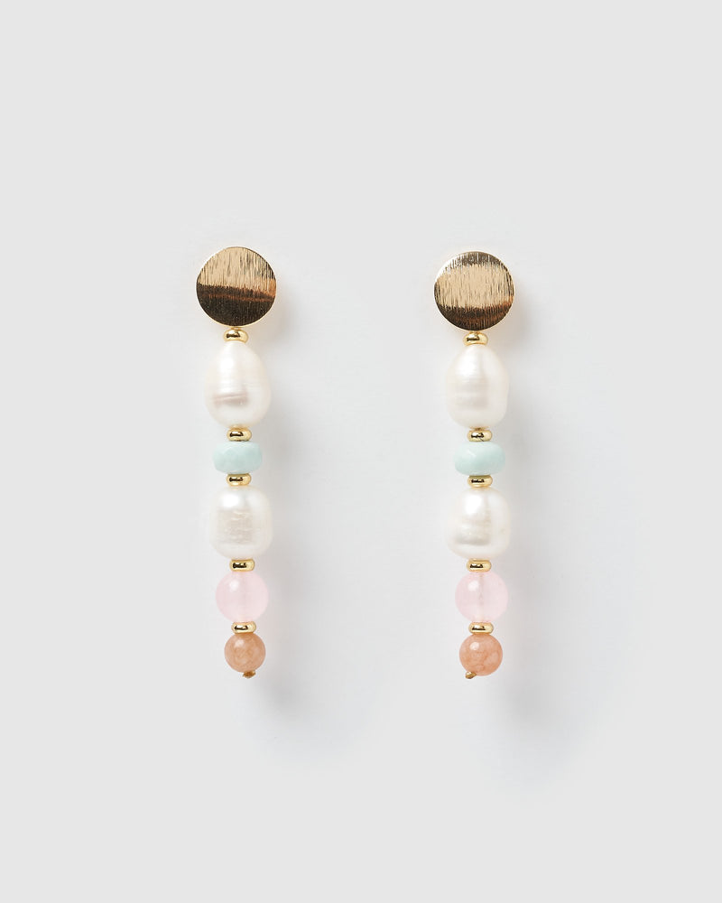 Miz Casa & Co Emery Drop Earrings Pink Freshwater Pearl