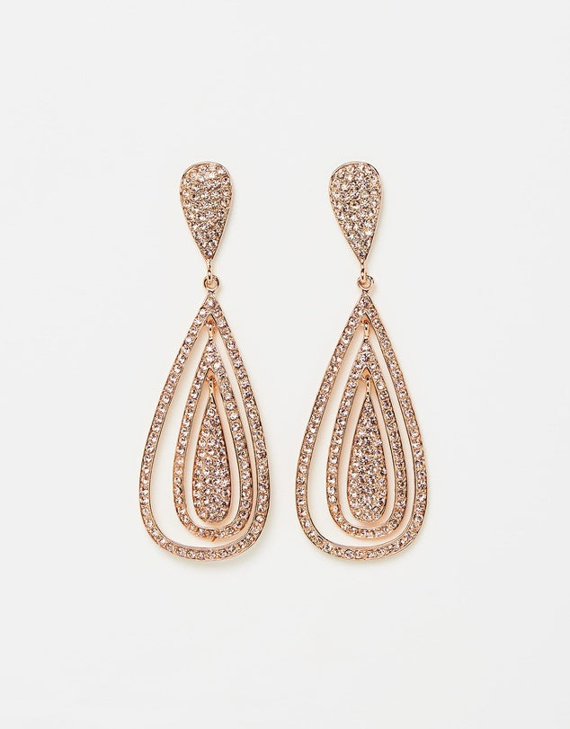 Izoa Fantail Earrings Rose Gold Peach