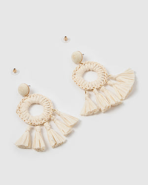 Izoa Finn Earrings Natural