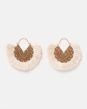 Izoa Flamenco Earrings Beige