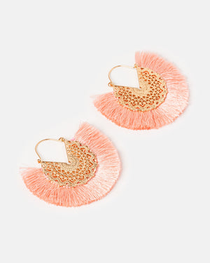 Izoa Flamenco Earrings Pink