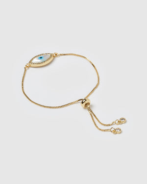 Miz Casa & Co Forever After Bracelet Gold Pearl