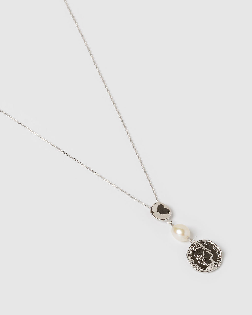 Izoa Fortune Necklace Silver Freshwater Pearl