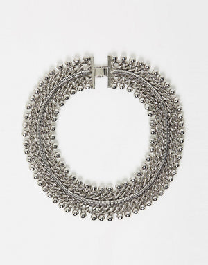 Izoa Freesia collar necklace silver