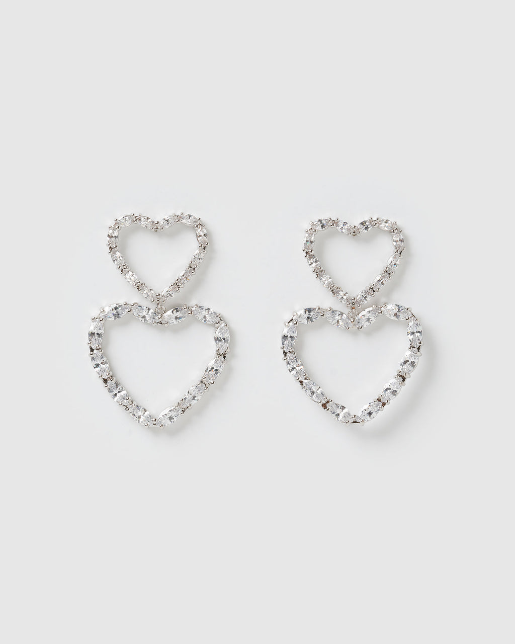 Izoa Full of Love Earrings Silver