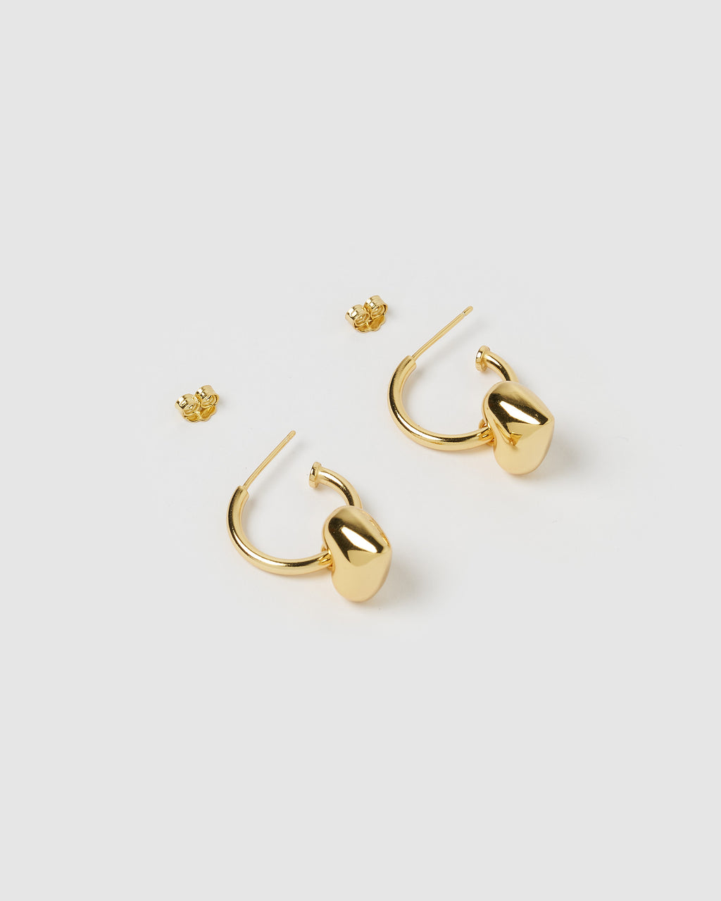 Izoa Feel The Love Hoop Earrings Gold