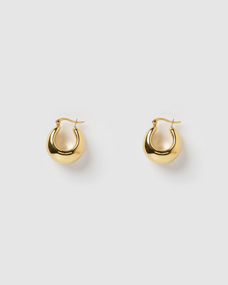 Izoa Fiu Hoop Earrings Gold