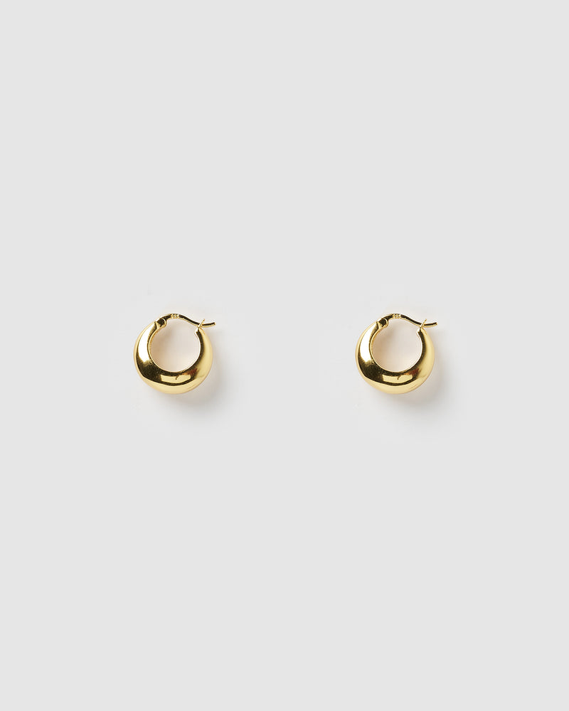 Izoa Fiu Mini Hoop Earrings Gold