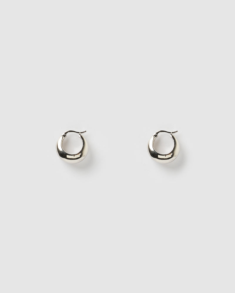 Izoa Fiu Mini Hoop Earrings Silver