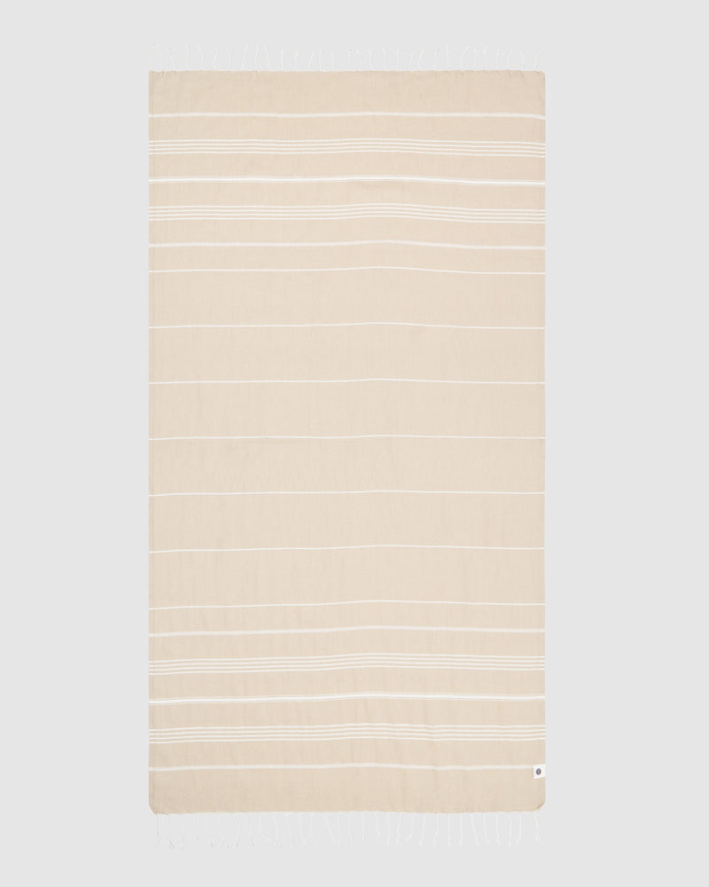 Miz Casa & Co French Rivera Turkish Towel Beige