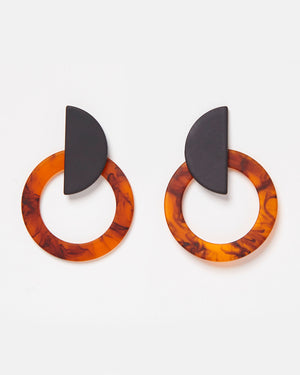 Izoa Gabriella Earrings Amber