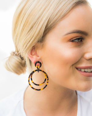 Izoa Gaia Earrings Tortoise Shell