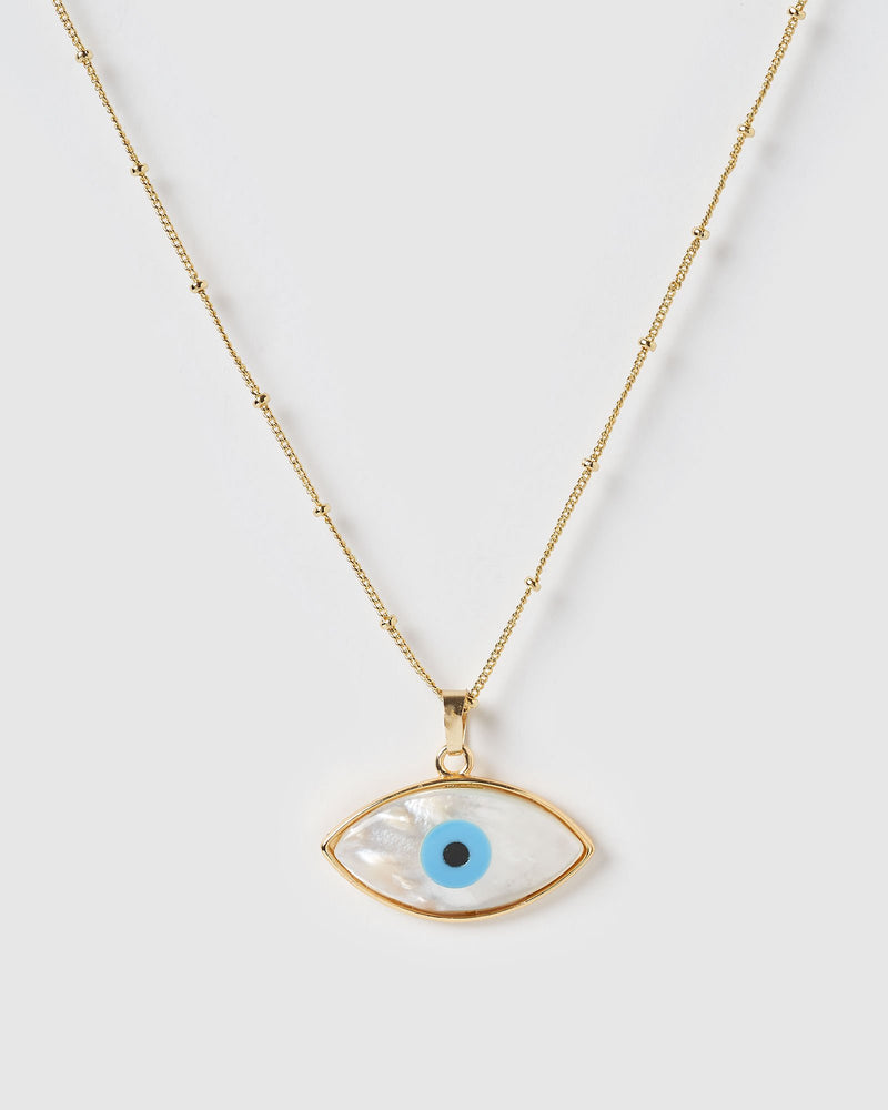 Miz Casa & Co Gazing Pendant Necklace Gold