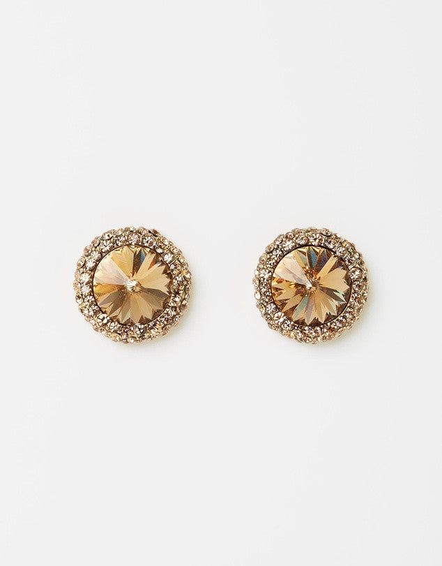 Izoa Gem Earrings Gold