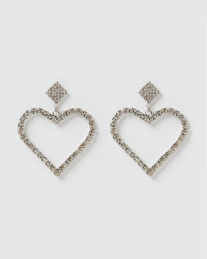 Izoa Glimmer Earrings Silver