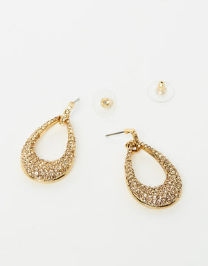 Izoa Glitz Earrings Gold