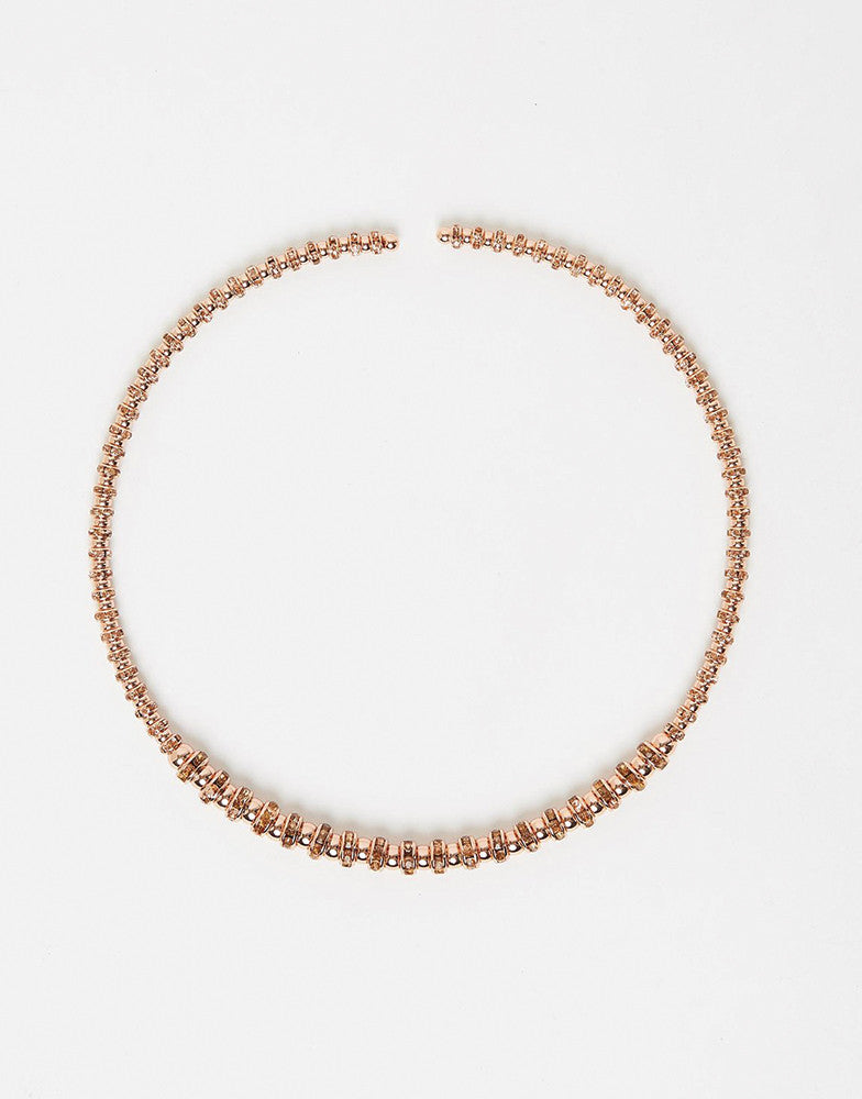 Izoa Goddess collar necklace in rose gold