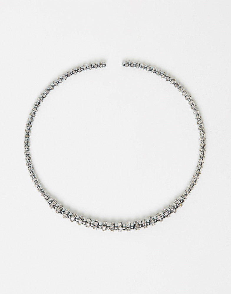 Izoa Goddess collar necklace in Silver