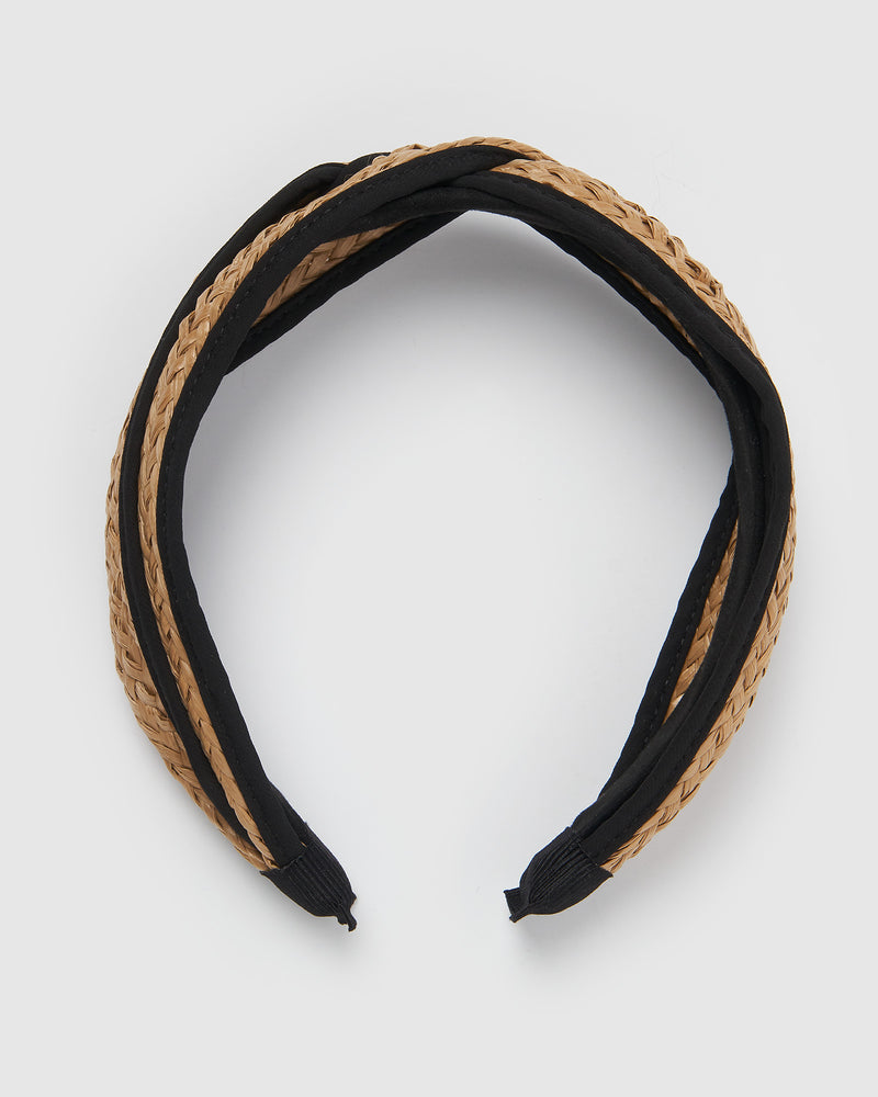 Izoa Golden Headband Natural Black