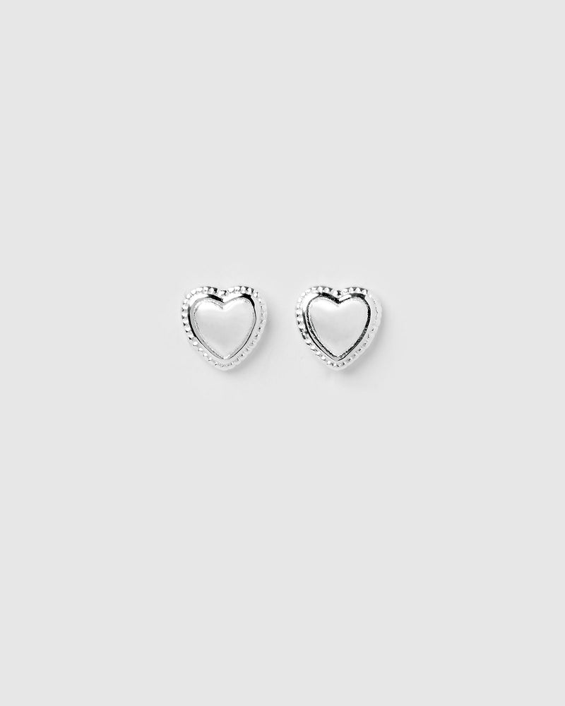 Izoa Harlow Love Stud Earrings Sterling Silver