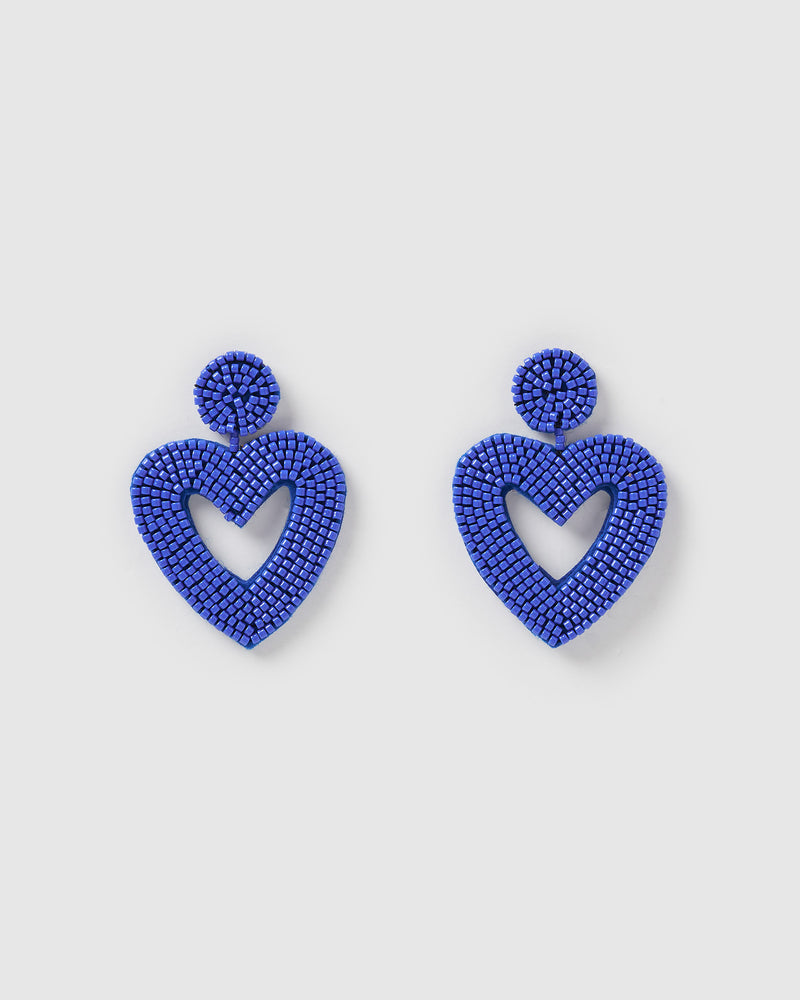 Izoa Heartfelt Earrings Blue